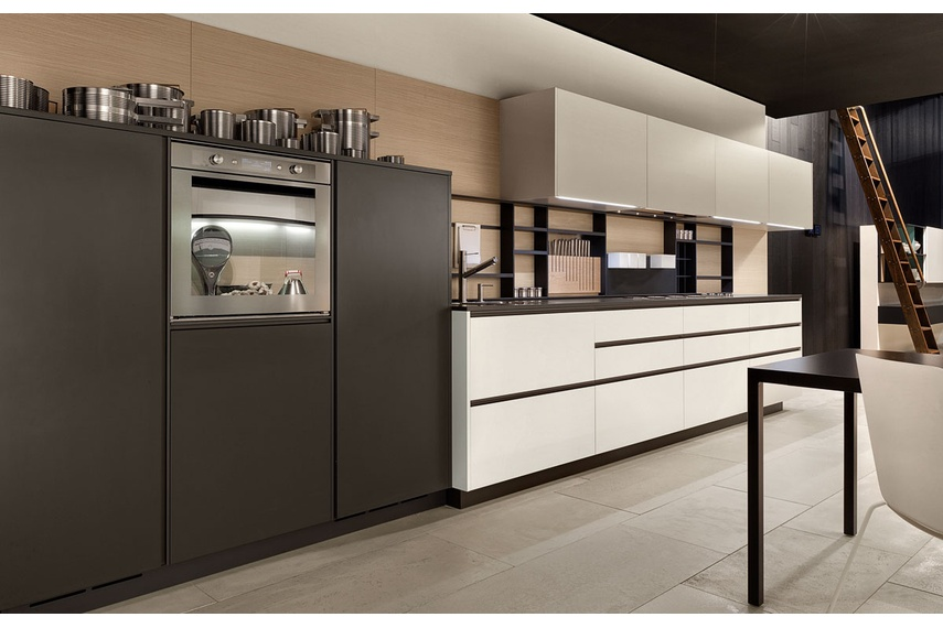 The My Planet kitchen interprets the widespread desire for practicality and elegance.