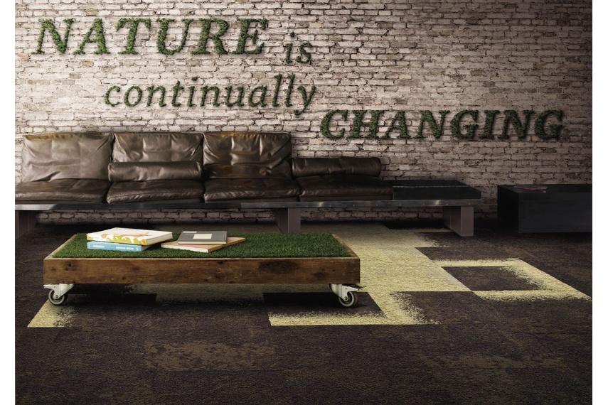 Urban Retreat One carpet tile – Bark Moss.