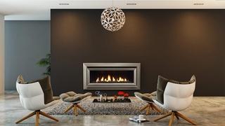 New super-efficient Escea DL1100 gas fireplace