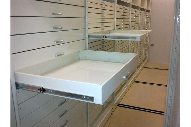 Drawers with a 50mm & 100mm profile.