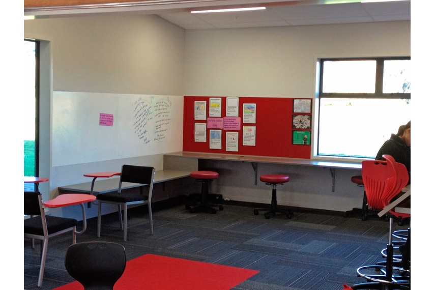 Whites and neutrals colour topcoated in Write-on wall paint encouraging children to get creative