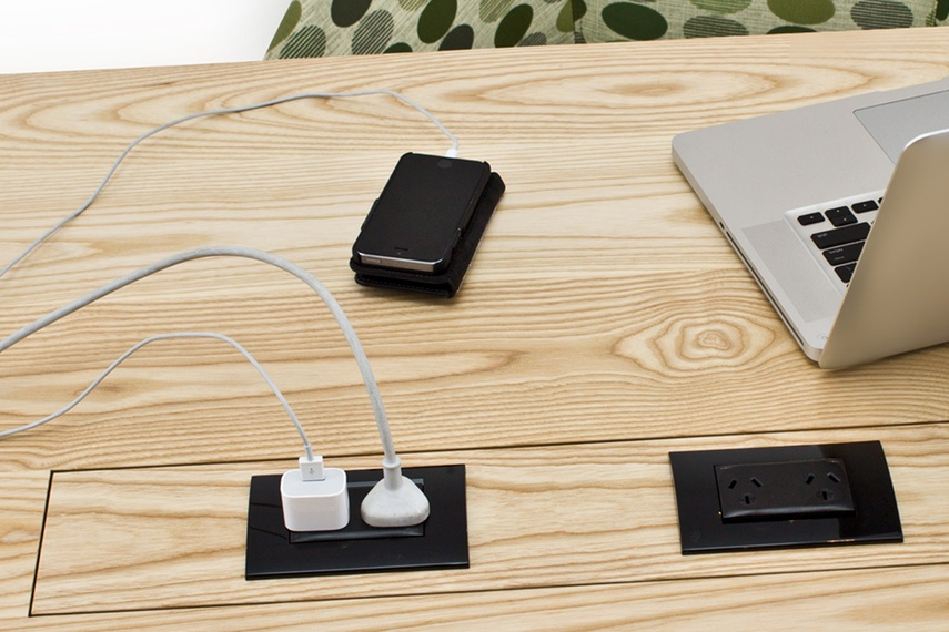 Flip Power brings power to the centre of any table