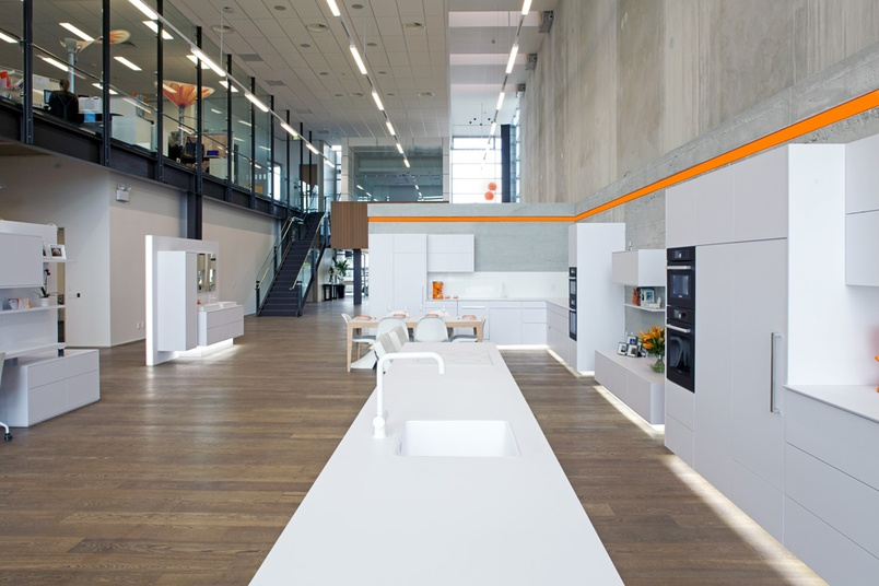 Blum Showroom featuring Woca treated floors