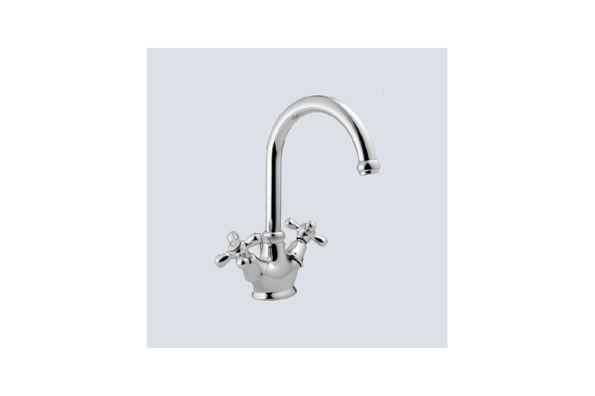 Viareggio basin mixer with swivel spout