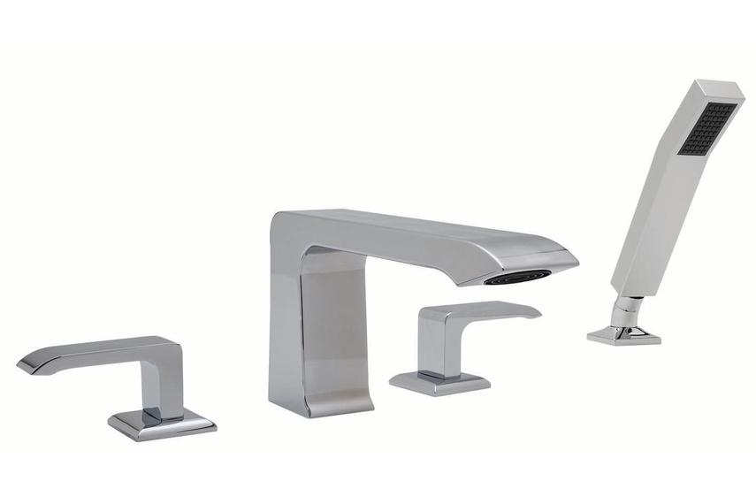 Serta 4 hole deck-mounted bath filler.