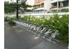 Galvanised stepped bike racks