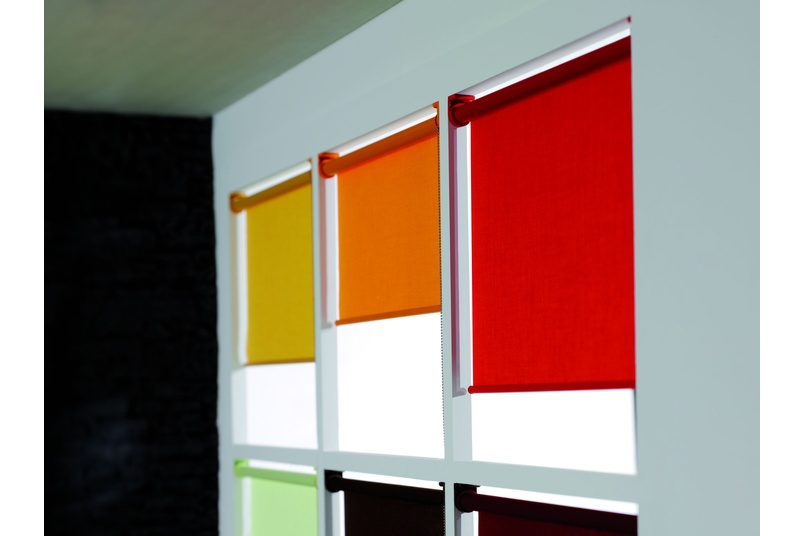 Silent Gliss –  colourful roller blinds