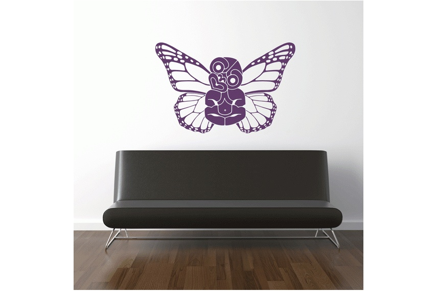White winged tiki Monarch Butterfly by Brad Novak. Available in over 80 colours and three sizes