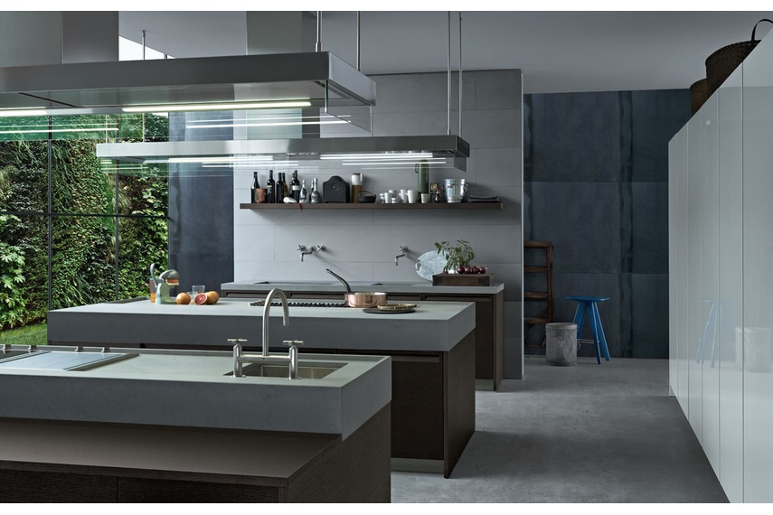 The Minimal kitchen in grey.