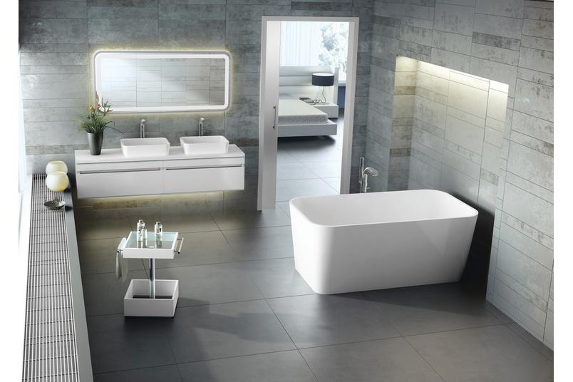 Edge freestanding bath.