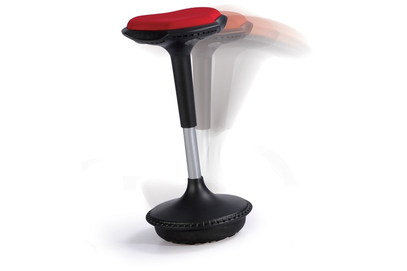 The Bounce stool has a sleek, continuous form.