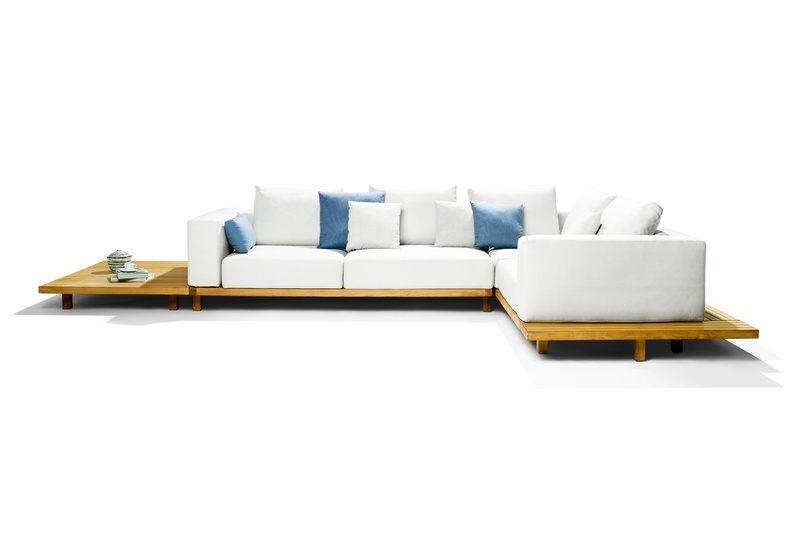 Render of the Vis à Vis sofa.