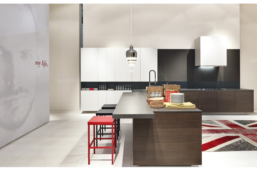 The kitchen merges seamlessly with living spaces.