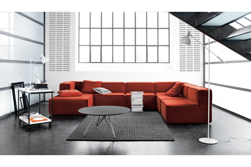 Carmo Modular Sofa System Shown In Rust Red Riola