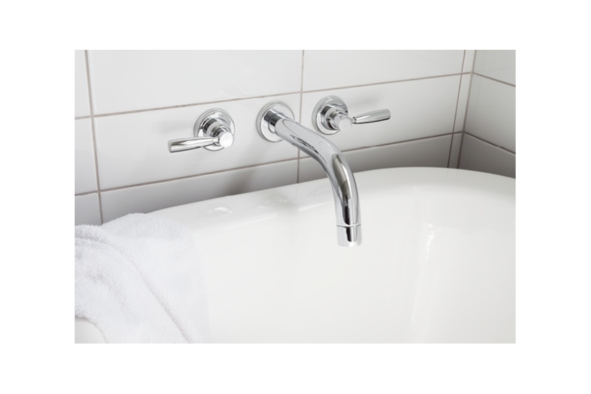 Perrin & Rowe Contemporary wall mounted basin taps in chrome