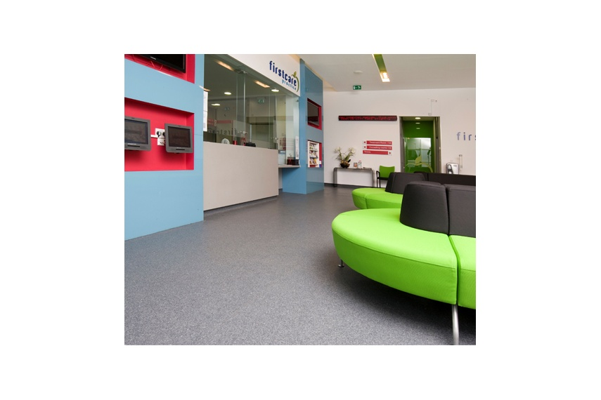 Polyflor Classic Mystique commercial sheet vinyl is great for large commercial flooring areas.
