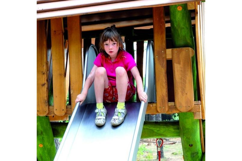 Wobbly wood slide