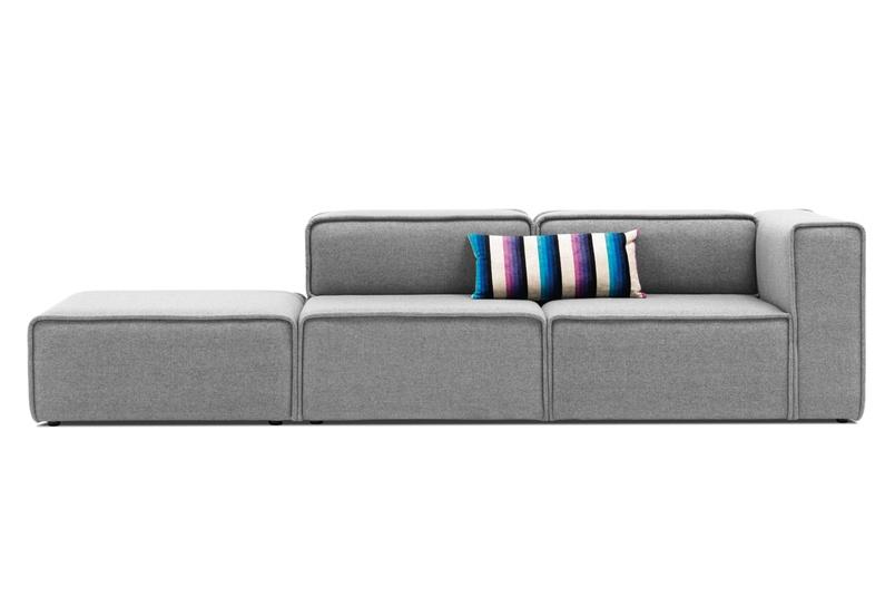 Carmo Modular Sofa System Shown In Light Grey Felt