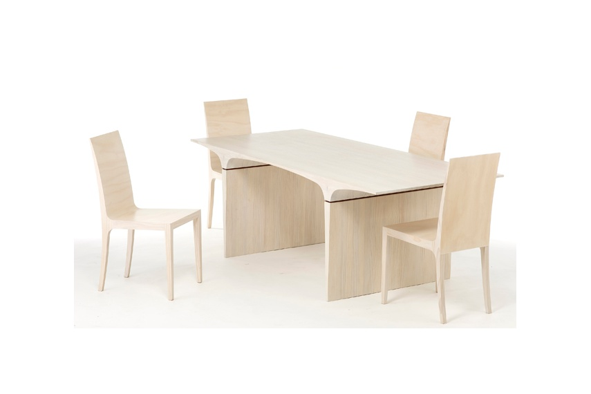 Planar table and chairs