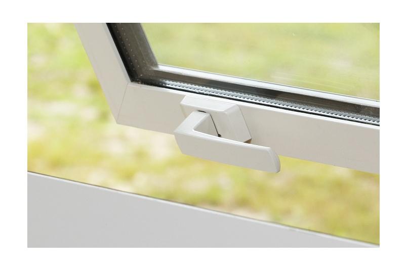Malta® high-profile window fastener in powder coat finish